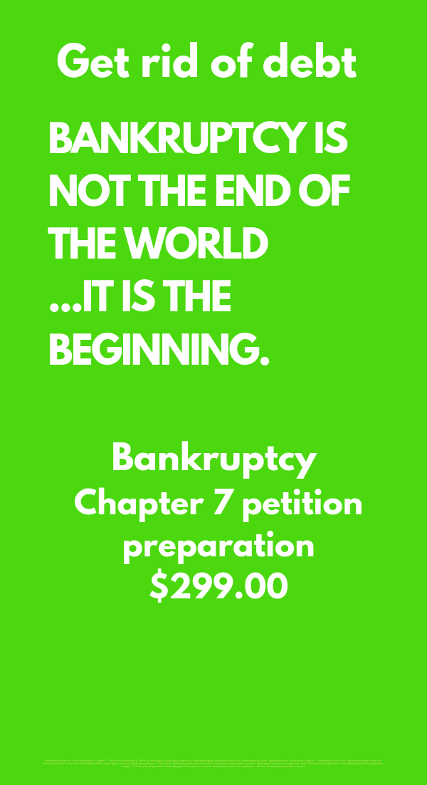 bankruptcy chapter 7 petition preparation services