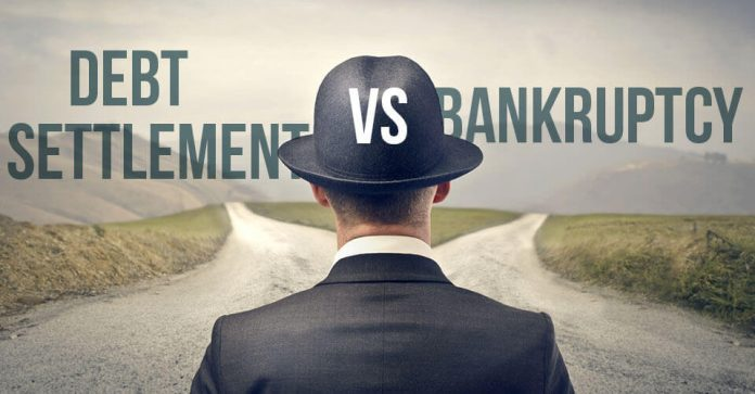debt settlement vs bankruptcy which is better supermoney